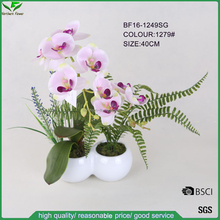 high quality fabric flower,artificial latex flowers orchids for gifts