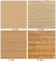 Fashang Embossed textured wood grain MDF paneling interior decoration panel 3D