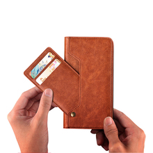 Vintage Slim Flip Folio Credit Card Slot Rotation kickstand Premium PU Leather Phone Case for iPhone X