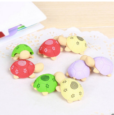 Turtle Shaped Pencil Eraser For Kids Students Rubber Erasers Cleansing Stationery Product Children Office School Supplies