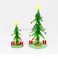 glass christmas tree with santa ,snowman gift box , reindeer for christmas decorations