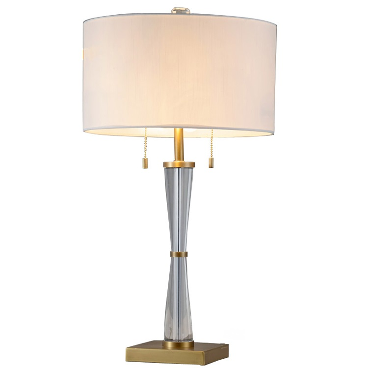 Nice Lighting E27 Antique Brass Desk Light European Crystal Hotel Table <strong>Lamp</strong>