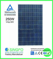 2015 powerful 250W poly panel solar , solar pv module for project