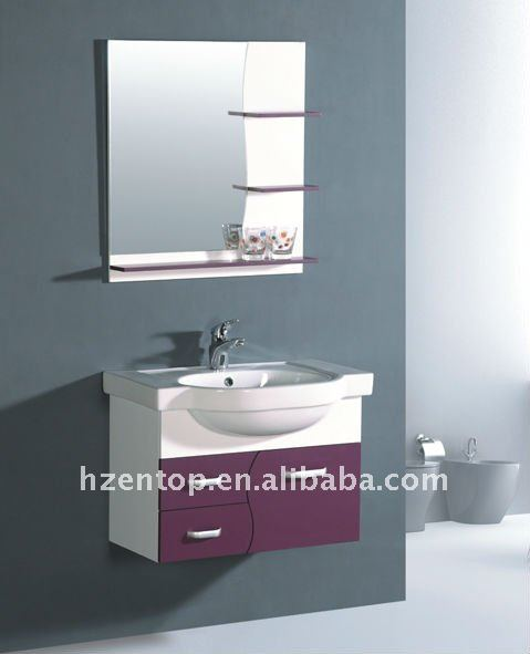 Bathroom furniture, bath vanity,PVC bathroom cabinet P-7007