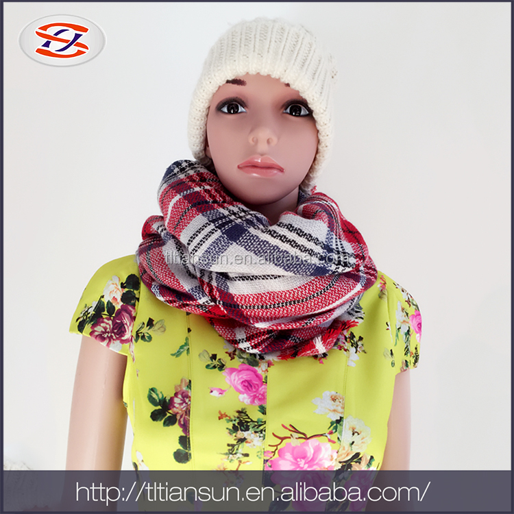 Low Cost High Quality promotion christmas scarf knitting pashmina scarf