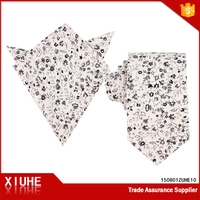 Super quality exported high quality floral cotton tie and matching handkerchief