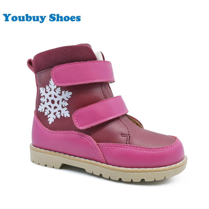 Guangzhou factory OEM girls stylish autumn winter boots kid leather shoes online