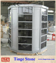 Shanxi black granite columbarium 48 niches with column designs