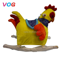 Best gift for kids horse toys colorful wooden rooster rocking horse