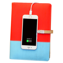 High quality Gift Notebook with 8GB USB notebook,8000mAh power bank note book