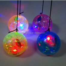 Skip Ball Type and Soft Toy Style led flashing light bounce ball with pink fish as child toy for children play