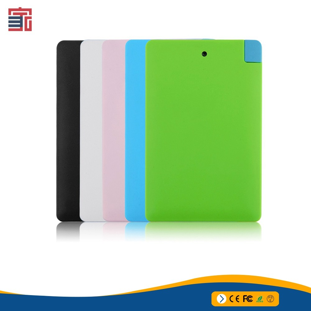 2017 business portable charger cell mobile phone super ultra thin slim credit card size 3500mAh power bank for mobile phone