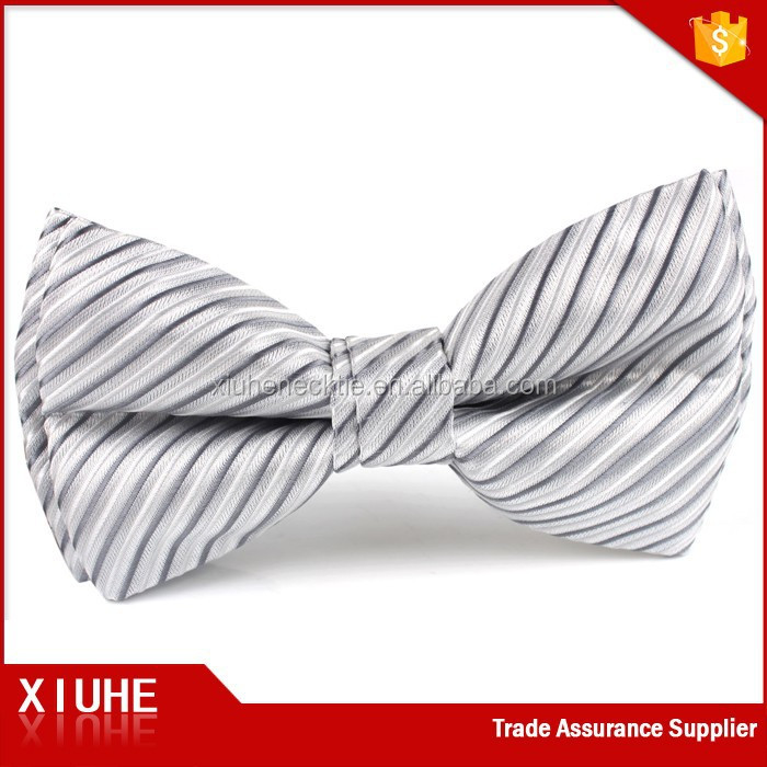 Best Selling Men's Novelty Design Polyester Striped Bow Tie