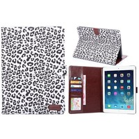 Magnetic Wallet Book Leopard Printed Leather Card Flip Stand case for Ipad Air 2