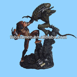 Alien Life Size Antique Warrior Statue