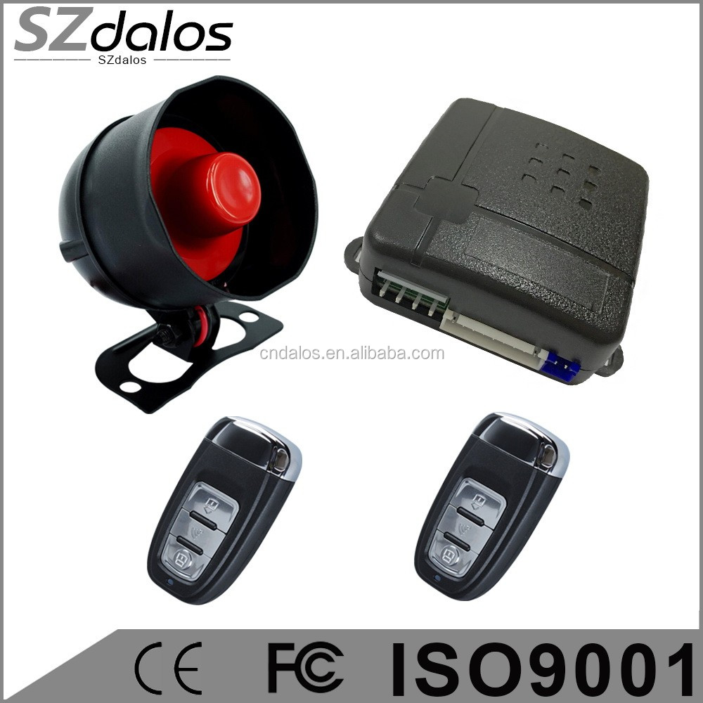 Rolling code genius car alarm manufacturer with original remote control hot in south america market