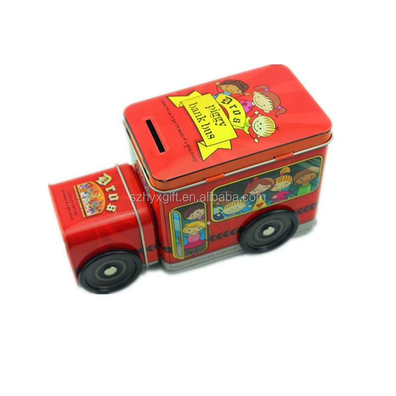 Disney Factory New Design Product Car Shaped Saving Money Box, Pen Shaped Tin Can Box