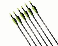 high quality archery pure carbon fiber arrows fletching 3'' rubber feather or turkey feather