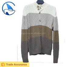 Striped wool cardigan sweaters for men