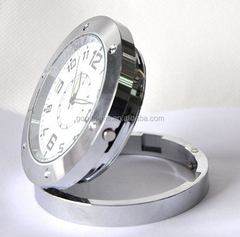 Mini Wholesale DVR520 Desk Table Clock Wireless Hidden Spy Digital Camera With Motion Detection