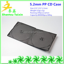 guangdong factory black double 7mm short cd dvd plastic boxes to Africa