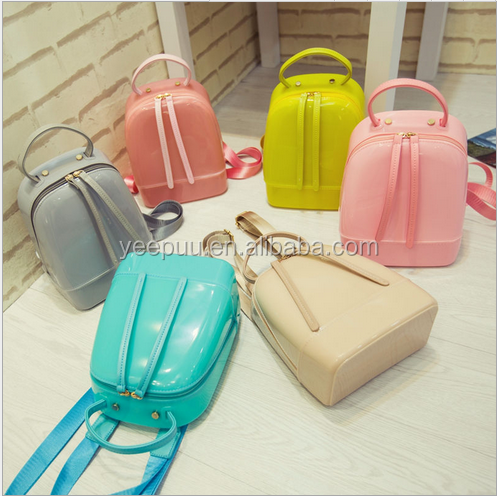 Trendy Kids Fashion Waterproof Mini Candy Jelly Backpack Travel Jelly bag Fashion women's Candy Jelly Backpack Bag