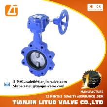 Worm Gear Operated Lug Type Concentric Rubber Lined Butterfly Water Valve