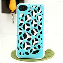 2014 New Coming Artistical Vision 3D Water Cube Case for Iphone 4G 4S 4GS Blue
