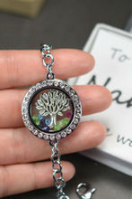 Alibaba Grandmother Gift Family Tree Locket Bracelet With Birthstone Charms