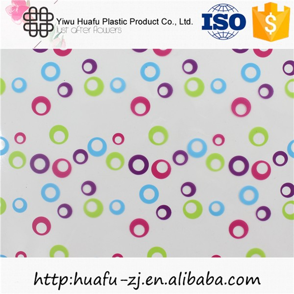 Custom printed wrapping paper colored cellophane wrap for flower