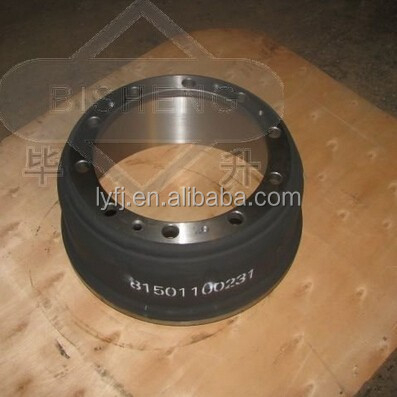 Truck Brake Drum/Auto spare parts/MAN Brake Drum 8076716 used for heavy duty truck