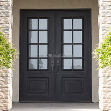 Merlin wrought iron exterior door series, with double hollow glass, fly screen, window operatable M-424