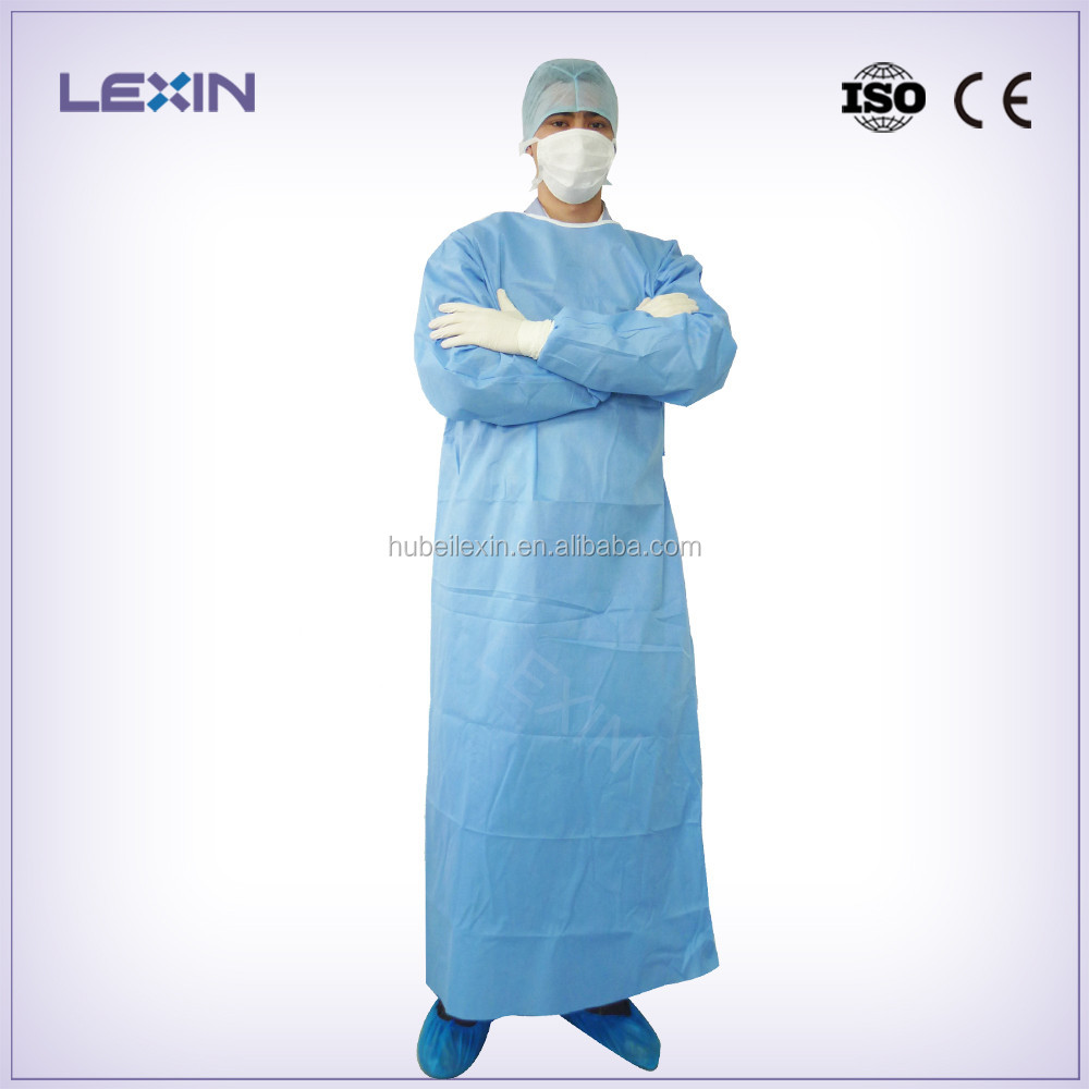 Sterile soft disposable surgical gown