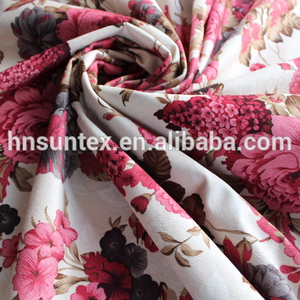 softextile floral print stretch satin fabric printed nylon fabric for sofa,curtain