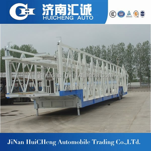 china HC Euro Two Single Wheel Car Carrier Semi Trailer low price for sale