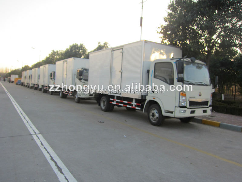aluminum sheet CKD cargo dry van truck body/CKD refrigerated truck body