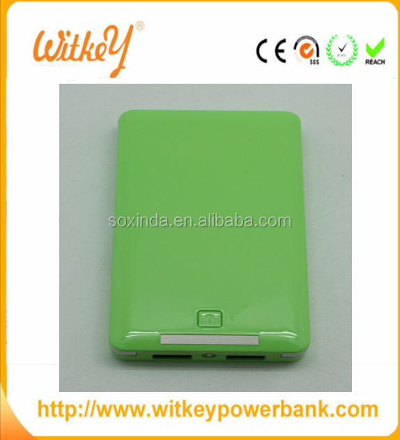 high capacity power bank 8000mah with build-in cable line
