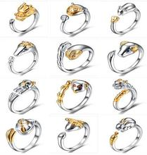 Hot fashion fashion personality high-grade silver jewelry wholesale S925 female animal Chinese Zodiac lovers opening ring