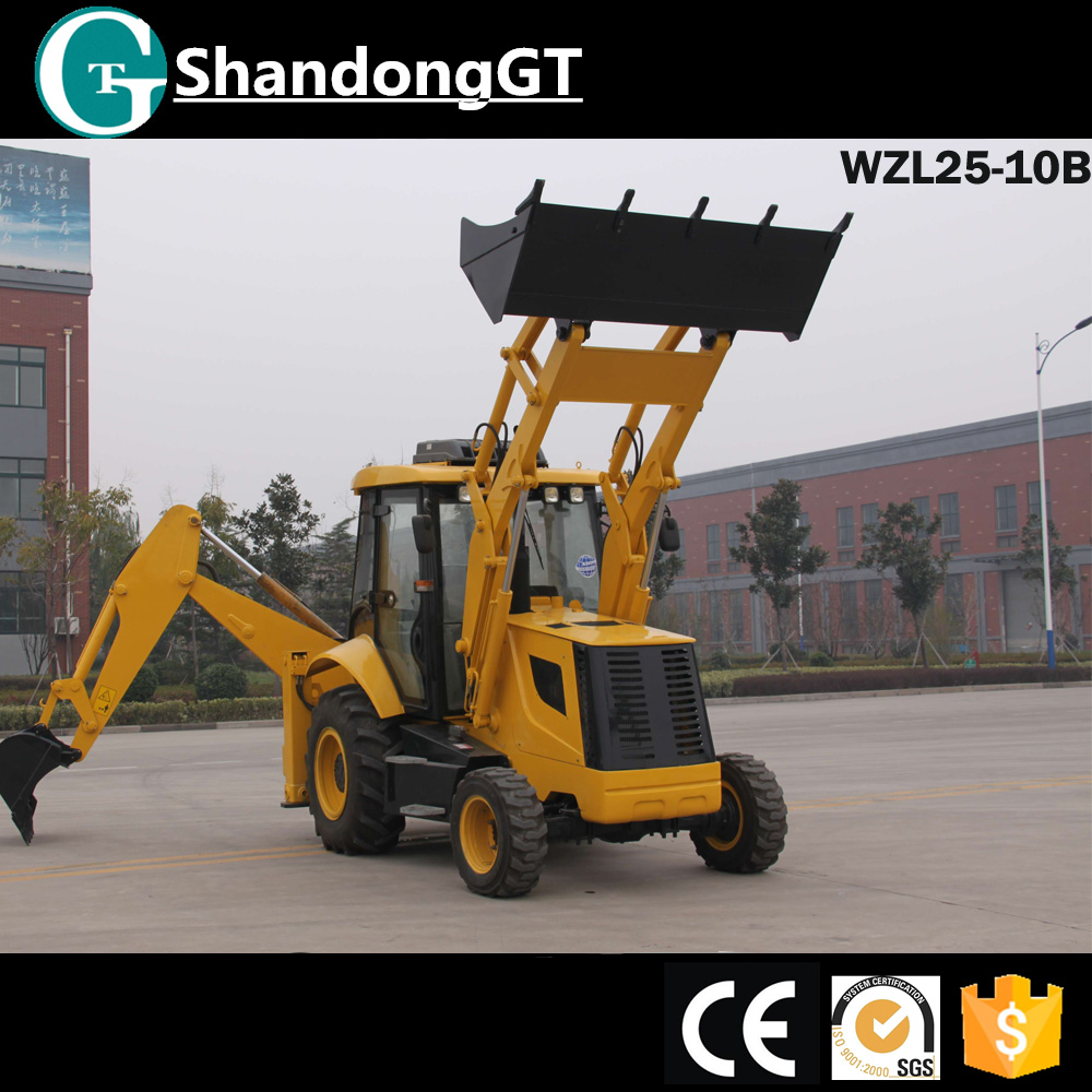 WZL25-10B top quality and pilot control loader back excavator