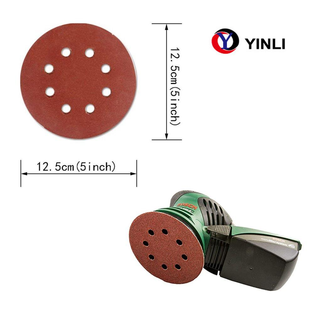 125mm Sand Disc grit 60 8 holes abrasive <strong>paper</strong>