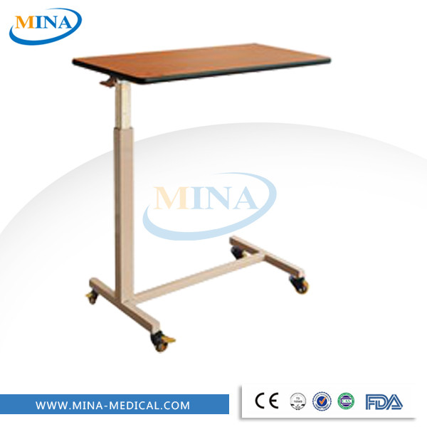 MINA-G06-A Mobile desk height adjuster,over bed table with steel frame