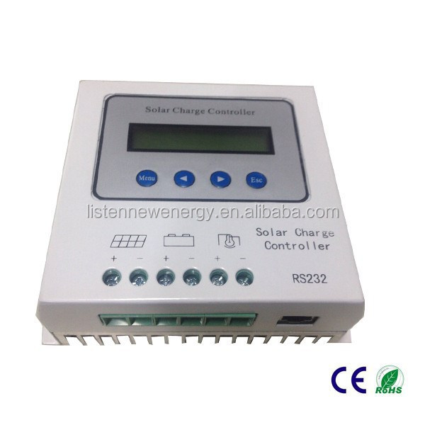 12/24V 15A Solar Battery Charge Controller PWM Solar Controller With RS232 LCD display