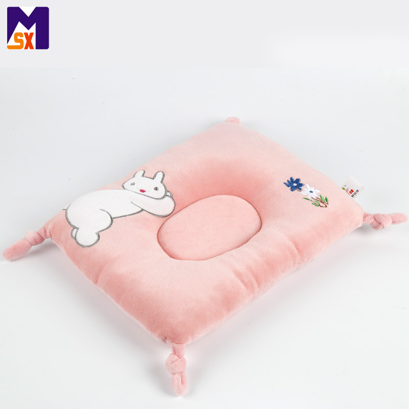 Wholesale cute designs comfortable cotton baby head shaping pillow