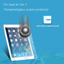 Hot Sales Ultra Thin Transparent Clear Anti Fingerprint Screen Protector for iPad Air 2 Tempered Glass