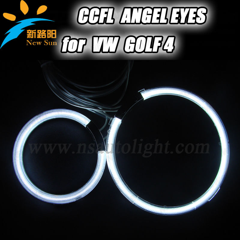New CCFL Angel Eye, Halo Ring Headlights Hot Sale Car Accessories CCFL Angel Eye for GOLF 4