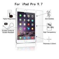 tablet screen protector PK for ipad mini 1 2 3 4 5 air /Tablet Screen protector 0.33MM 2.5D 9H Anti Blue Light Tempered Glass