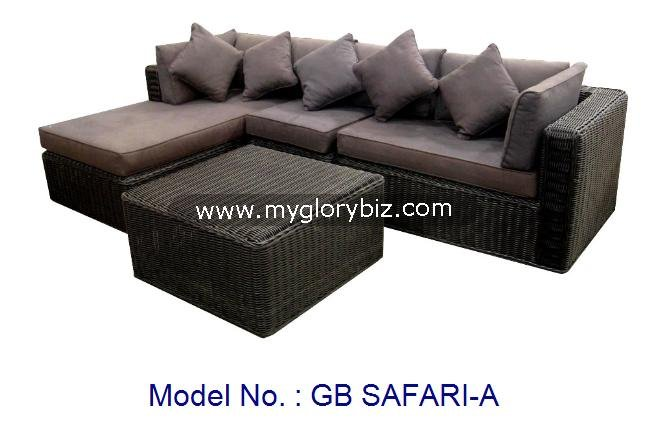 Rattan Sofa Set, Rattan Garden Furniture Sofa Set, Modern Outdoor Furniture For Home