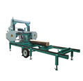 MJ1000D Diesel Engine Horizontal Wood Band Saw Portable Sawmill With Log Loader