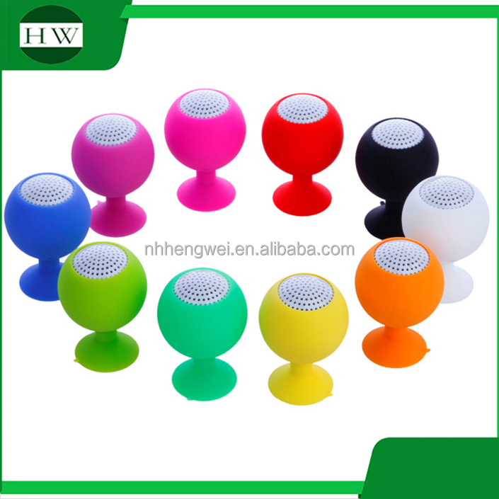 silicone sucker holder music powered amplifier mobile phone sound box mini speaker portable speaker