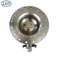Stainless Steel Manual Gear Operated Fully Welded Price Segment Ball Valve